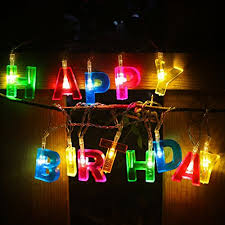 letter lighting. Happy Birthday Lights 13 LED Letter Battery Operated String By 6Ft Party Decor S Lighting
