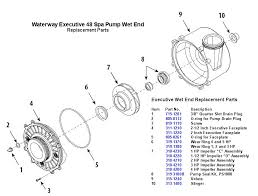 waterway executive 48 wet end spa pump replacement parts 2 speed spa pump wiring diagram at Waterway Executive 56 Wiring Diagram