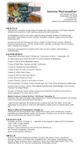 meriweather com resume