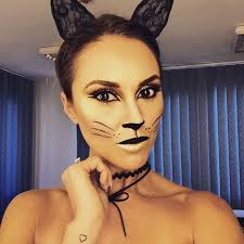 black kitty cat makeup
