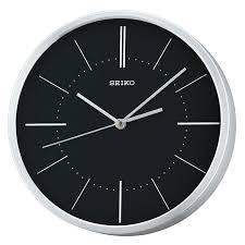 quiet sweep second hand aluminium wall clock silver with black dial target
