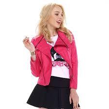 get ations rose faux leather zipper women pu jackets motorcycle coat 2016 autumn winter brand biker las casual