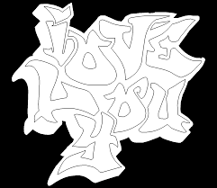 Small Picture I Love You Graffiti Free Online Coloring Page