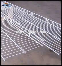 Plastic Coated Wire Racks Pvc Coated Metal Closet Hanging Wire Shelf With White Color Buy 67