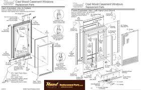 Decorating patio door replacement parts pictures : Hurd casement window parts assembly diagram