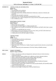 Visiting Nurse Sample Resume Visiting Nurse Resume Samples Velvet Jobs 9