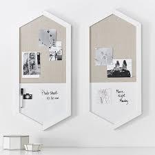 wood framed hexagon wall organizer simply white