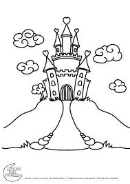 Coloriage Chateau Princesse Coloriages Pinterest Coloriage Coloriage A Imprimer Chateau De Princesse L
