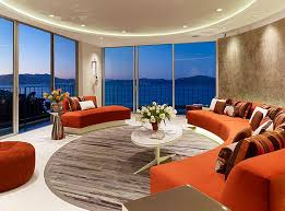 Round Modern Area Rugs for Living Room