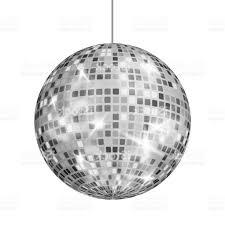 siler vector nice disco ball chandelier silver vector night club retro party classic light