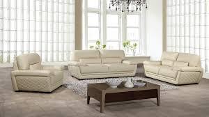 american eagle ek019 cream italian leather sofa set