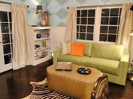 living room furniture spaces inspired:  hrmc green orange living room after sxjpgrendhgtvcom