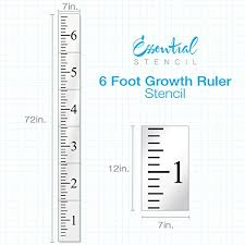 6ft Growth Chart Ruler Stencil Ideal For Painting On Wood