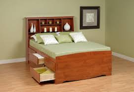 Queen Platform Bed with Storage Drawers Style