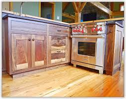 natural walnut kitchen cabinets