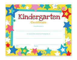 Kids Certificate Border Best Paper Greetings Kindergarten Certificates 60 Pack