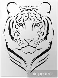 Plakát Vector Tygr Tetování