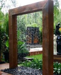 Outdoor Water Wall Fountain Features