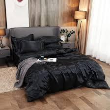 china solid black color hotel silk