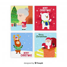 Christmas Scenes Free Downloads Christmas Scenes Cards Collection Vector Free Download