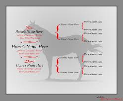 Horse Pedigree Chart Horse Pedigree Chart By Rockcreekranch On Deviantart