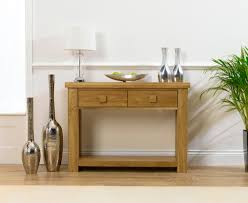 madrid solid oak furniture small console table