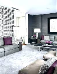 gray and purple living