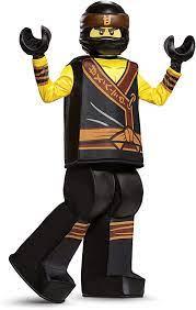 Disguise Cole Lego Ninjago Movie Prestige Costume, Yellow/Black, Large  (10-12) : Amazon.de