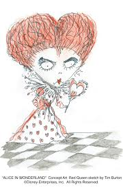 today i ve got something a bit more manageable a super cool burton sketch of helena bonham carter as the red queen check it out