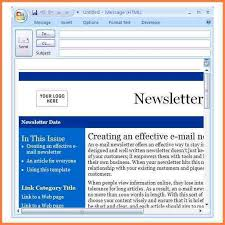 create email template outlook e newsletter template for outlook templates resume examples