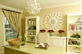 home office arrangements. Office, Example Of A Trendy Home Office Design In Chicago With Beige Walls And Arrangements I