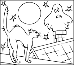 Small Picture Halloween Cat Coloring Page Printables Apps for Kids