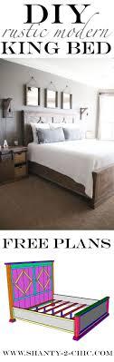 DIY Rustic Modern King Bed