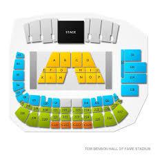 Canton Hall Of Fame Stadium Seating Chart Tom Benson Hall Of Fame Stadium 2019 Seating Chart
