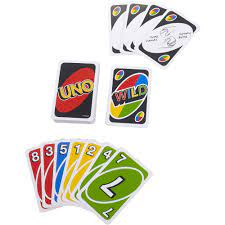 uno color number matching card game