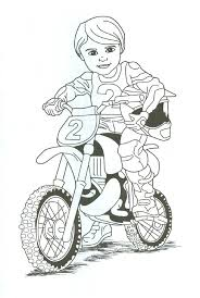 Dirt Bike Rider Coloring Page Tina We Cn Print This And Fayth