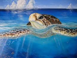 hand painted sea turtle on canvas on turtle wall art painting with sea turtle paintings and wall art sealife gifts