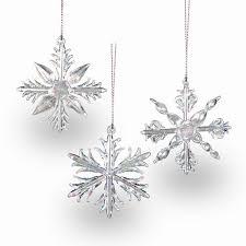 Details Zu Sikora Christbaumschmuck Aus Glas Eiskristalle 3er Set H 7cm