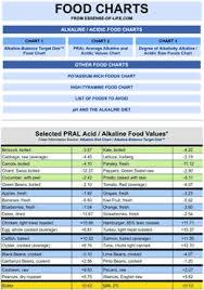 Pral Alkaline Chart Excellent Alkaline Food Chart Alkalizing Through Nutrition