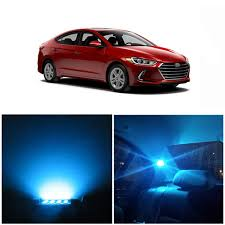 Hyundai Elantra License Plate Light Replacement Amazon Com Wljh 11pcs Ice Blue Canbus No Error Car Led