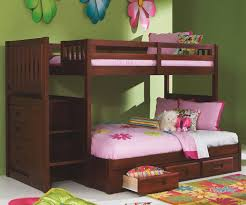 discovery world furniture merlot Twin over Full stair staircase bunk bed  2814full kids bedroom