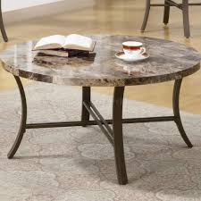 Marble Living Room Table Set Like Round Top Metal Base Modern 3pc Coffee Table Set