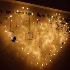 <b>LED</b> String Light <b>Love</b> Curtains Heart-shaped White Wedding Girl ...