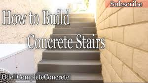 Cinder Block Stairs How To Build And Pour Concrete Stairs Youtube