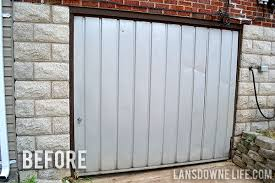 replace garage doorReplacing an old garage door with a wall  Lansdowne Life