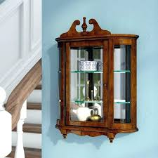 antique curved glass curio cabinet grand wall mounted curio cabinet reviews wall mounted curio cabinet antique
