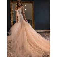 2017 fabulous blush pink wedding dress formal gowns mermaid open