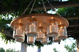diy outdoor chandelier with solar lights outdoor mason jar chandelier diy outdoor chandelier homemade full image for compact hanging candle chandelier