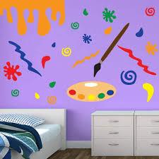 paint splatter wall decals kids wall