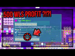 How To Make Vending Machine In Growtopia Inspiration PROFIT 48 WORLD LOCKS DALAM 48 HARI COLLECTING FROM VENDING